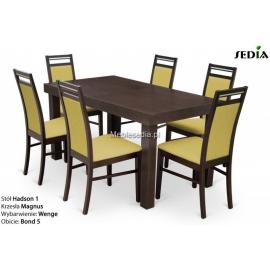 Stół Hadson 1 + 6 krzeseł Magnus