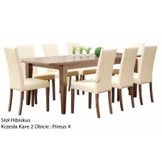 Stół Hibiskus 190 x 97 + 8 krzeseł Kare 2