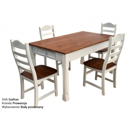 Stół Szafran + 4 krzesła Prowansja