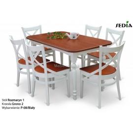 Stół Rozmaryn 1 + 6 krzeseł Grono 2