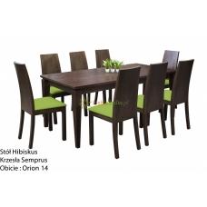Stół Hibiskus 190 x 97 + 8 krzeseł Semprus