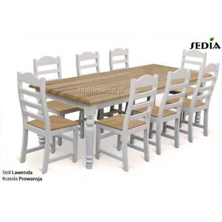Stół Lawenda + 8 krzeseł Prowansja