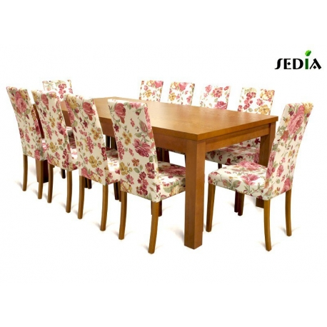 Stół Aston 3 + 10 krzeseł Kare 2