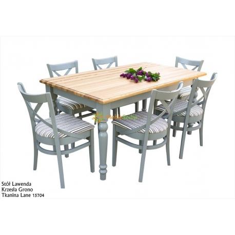 Stół Lawenda 160 x 90 + 6 krzeseł Grono