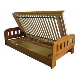 Łóżko sosnowe z pojemnikiem Uno II