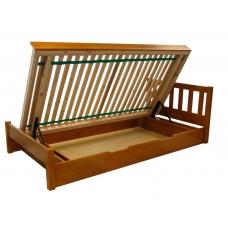 Łóżko sosnowe Lolek II z pojemnikiem