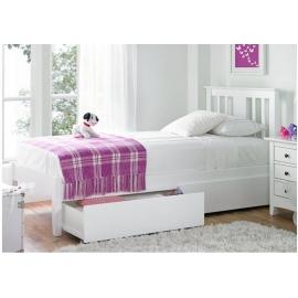 Białe łóżko do sypialni Iberis