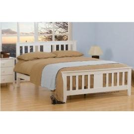 Łóżko drewniane białe Magnolia