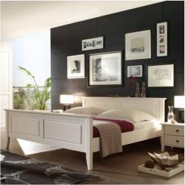 Białe łóżko Horn