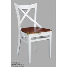 Białe krzesło Grono 2