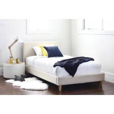 Łóżko tapicerowane w stylu skandynawskim Carlo