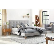 Łóżko tapicerowane w stylu skandynawskim Malibu