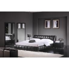 Memory - łóżko tapicerowane ekoskóra