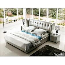 Tapicerowane łóżko z oparciem Ligo