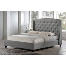 Łóżko tapicerowane z wysokim zagłówkiem Ernesto