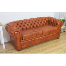 Sofa ze skóry Chesterfield Retro 2 osobowa