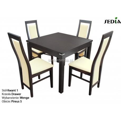 Stół Kwant 1 + 4 krzesła Drawer