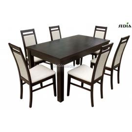 Stół Aston 1 + 6 krzeseł Magnus