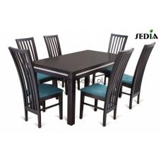 Stół Aston 1 + 6 krzeseł Riso
