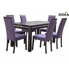 Stół Aston 1 + 6 krzeseł Kare