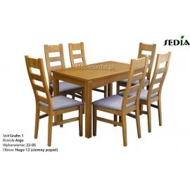Stół Grafin + 6 krzeseł Argo