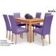 Stół Grafin + 6 krzeseł Kare 2
