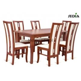 Stół Parys + 6 krzeseł Riko