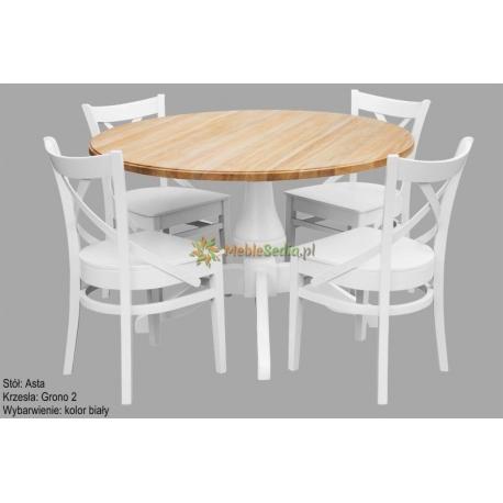 Stół Asta 1 + 4 krzesła Grono 2
